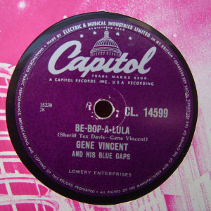 GENE VINCENT BE-BOP-A-LULA 78 LABEL
