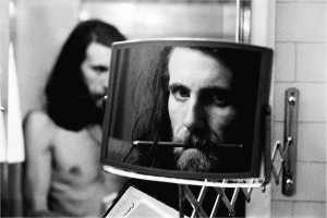 Mirror Imagination: Self portrait at The Plaza Hotel in London, September 1974. Photo by and © Graham Nash.