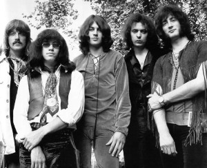 Speed Kings (from left): Lord, Paice, Gillan, Blackmore, and Glover do the early-1970s DP stance.