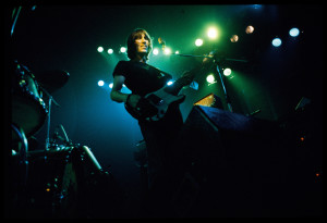 Careful With That Axe: Waters on stage. Photo by and copyright Jill Furmanovsky, courtesy Capitol Records Archives and rockarchive.com.