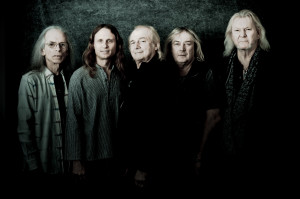 Going for the Five: Yes 2014, from left: Steve Howe, Jon Davison, Alan White, Geoff Downes, Chris Squire. Photo by Rob Shanahan.
